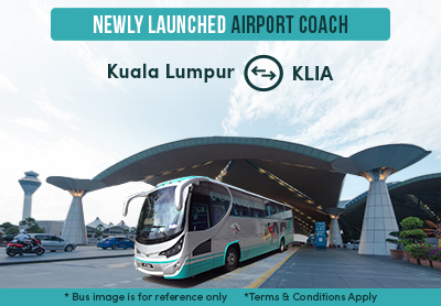 Travel To & From KLIA with Newly Launched Airport Coach!